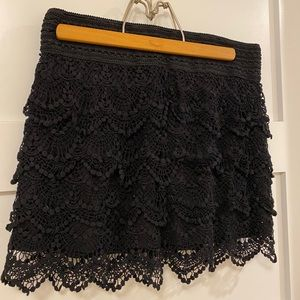 Women's Black Lace Skirt size XL
